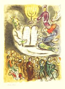 Mojžíš čte Starý zákon