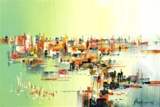 Ráno nad přístavním městem