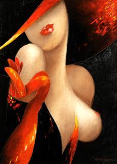 Dívka v červeném