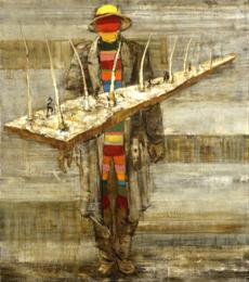 Malíř v bílé krajině