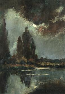 Měsíční svit nad vodou