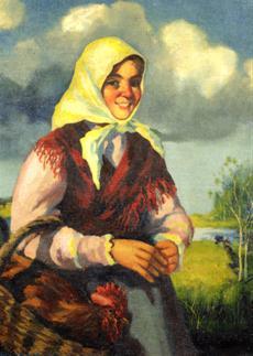 Dievča s kohútom