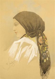 Dívka v šátku