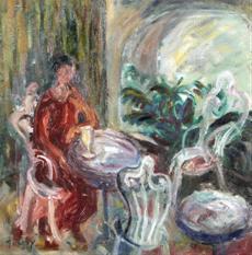Posedení v kaviarni