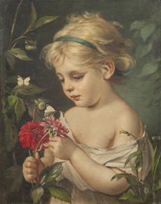 Děvčátko s květinami