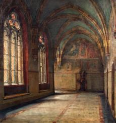 Křížová chodba v Emauzském klášteře v Praze
