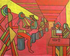 Červený bar