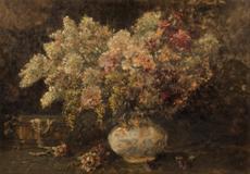 Květinové zátiší se šperkovnicí